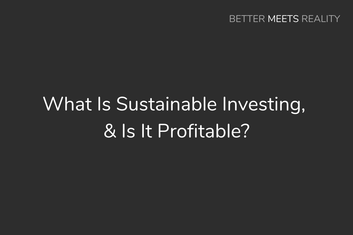 What Is Sustainable Investing, & Is It Profitable?